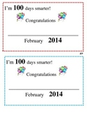 100th Day Certificate 2014