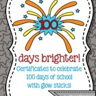 100th Day Certificates [100 Days Brighter!]