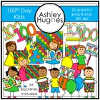 100th Day Kids {Graphics for Commercial Use}