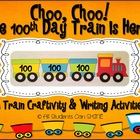 100th Day Train Craftivity & Printables