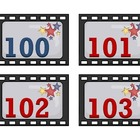 100th Day of School Cards 100-200 Movie Popcorn Hollywood theme