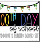 100th Day of School Class Pennant Activity