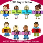 100th Day of School Clip Art by Jeanette Baker