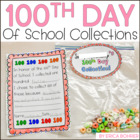 100th Day of School Collection Bag &amp; Poster Letter Home an