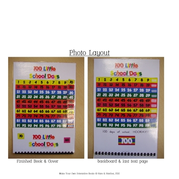 100th Day of School Interactive Book, Printable in full color!