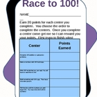 100th Day of School  - Race to 100!