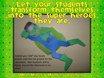100th Day of School Superhero Cape Kit for a Family Project