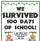 100th Day of School - Survivor Style!
