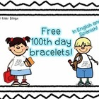 100th day bracelet (wristband)