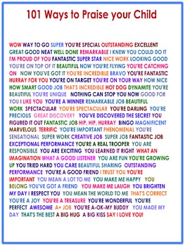 101 Ways to Praise Your Child