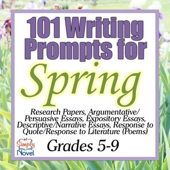 101 Writing Prompts for Spring
