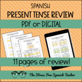 PRESENT TENSE in SPANISH! 11 activities to practice and review