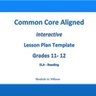 11th-12th Grades Common Core Interactive ELA Lesson Plan T