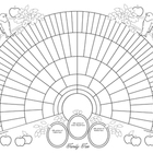 11x17 Printable Genealogy Fan Chart, Coloring Page Bird Design