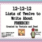 12-12-12: Creating a List of 12 Freebie!