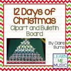 12 Days of Christmas Bulletin Board