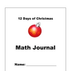 12 Days of Christmas Math Journal
