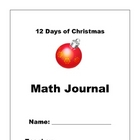 12 Days of Christmas Math Writing Journal