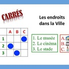 12 French City Place Vocabulary Puzzles; Lots of Uses and