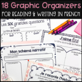 12 French Graphic Organizers Bundle for Reading, Writing a