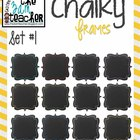 12 Fun Chalky Frames Clip Art - Set #1