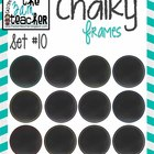 12 Fun Chalky Frames Clip Art - Set 10