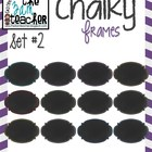12 Fun Chalky Frames Clip Art - Set 2