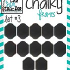 12 Fun Chalky Frames Clip Art - Set 3