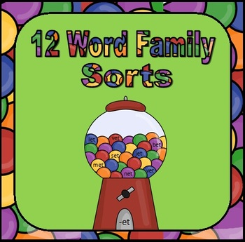 12 Fun Word Family Phonogram Sorts for Word Work
