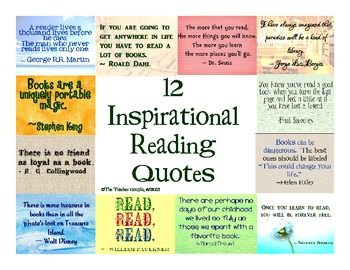 12 Inspirational Quotes for Reading
