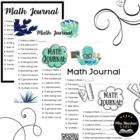 12 Math Journal Sentence Starters - Open Ended Questions f
