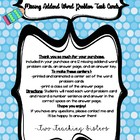 12 Missing Addend Word Problems  Task Cards