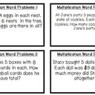 12 Multiplication task Cards