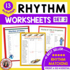12 RHYTHM Worksheets Set 2