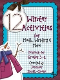 Winter Themed Activities for Math, Writing and More (Grade