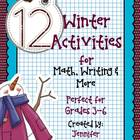 12 Winter Themed Activities for Math, Writing and More (Gr