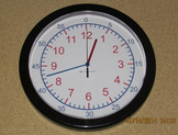 13 3/4in Teaching Wall Clock (+$10 shipping)