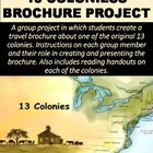 American History 13 Colonies Brochure Project