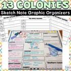13 Colonies Characters - Graphic Organizer