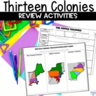 13 Colonies Graphic Organizers &amp; Sorting Game