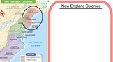 13 Colonies - Map, Text Reading (SMARTboard)