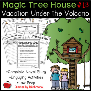 #13 Magic Tree House- Vacation Under the Volcano Questions