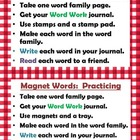 13 Word Work Literacy stations two sets for &quot;Practicing&quot; &amp;