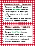 """13 Word Work Literacy stations two sets for """"Practicing"""" &"""