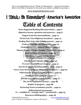 1304-10 Reasons to Revolt American Revolution (Grades 3-5)