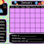 14 Interactive Flipchart Calendar for Promethean Board