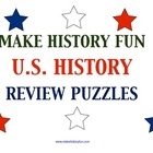 14 U.S. History Review Puzzles Plus 6 Puzzle Templates