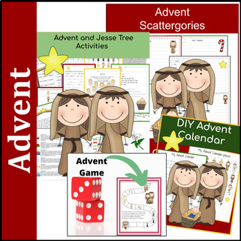 15 Advent and Christmas Math and Reading Activities- 3rd-5