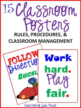 15 Classroom Management Posters