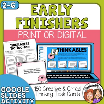 150 Creative and Critical Thinking Cards your Students will Love